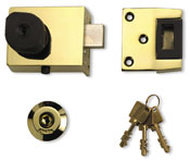 High quality, top of the range cylinder rim lock suitable as new front door lock or as an upgrade replacement for existing nightlatch.